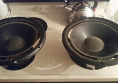 """Infinity 10"""" woofers Before"""